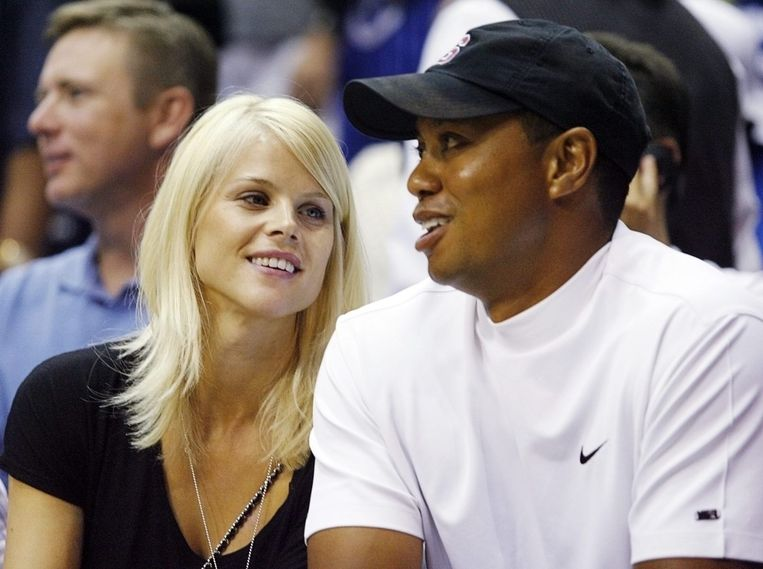 Elin Nordegren en Tiger Woods in 2009.