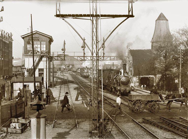 Weesperpoortstation, 1901. Beeld Stadsarchief