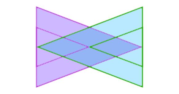 En uiteindelijk de twee grootste driehoeken.