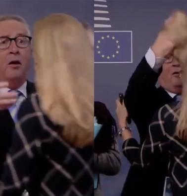 Bizarre begroetingen Juncker opnieuw controversieel