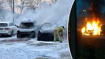 Studenten zien tijdens examen hoe hun wagens op de parking in vlammen opgaan