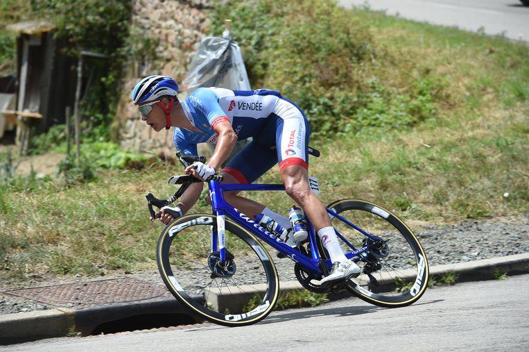 Niki Terpstra tijden de Tour de France in 2019.   Beeld BSR Agency