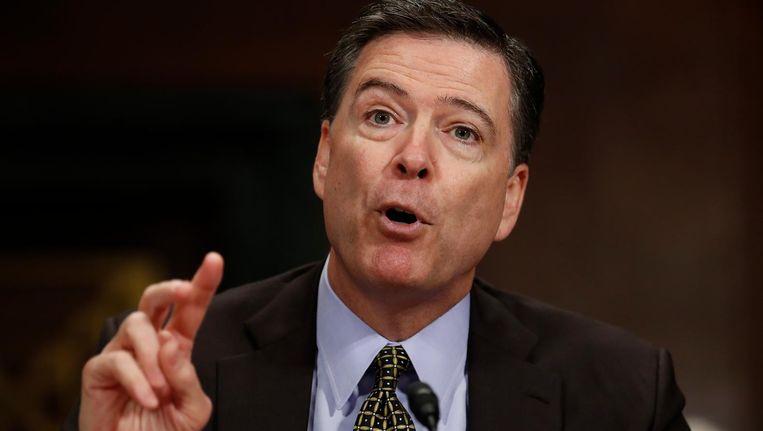 James Comey tijdens een eerdere hoorzitting op 3 mei, toen nog als FBI-directeur. Beeld ap