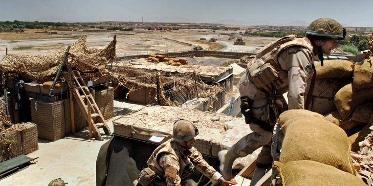 Een legerpost  in de Afghaanse provincie Helmand. Beeld x