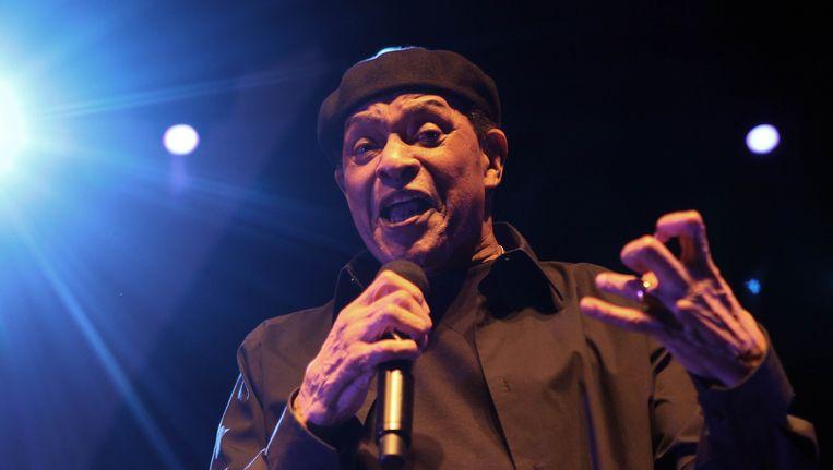 Zanger Al Jarreau in 2010 op het Jazz Festival van Nice. Beeld AFP