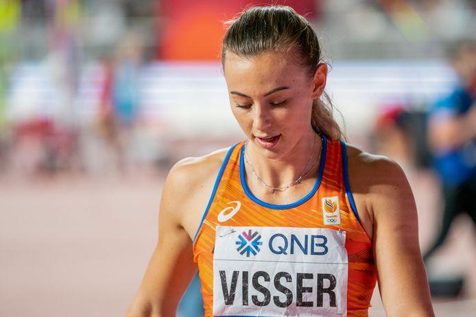 Nadine Visser eindigt als zesde.