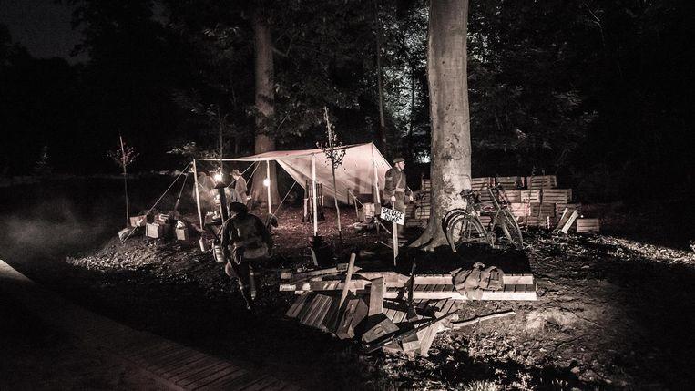 In het bos was ook een re-enactment te zien.