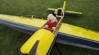 Knuffeldiertjes gaan de lucht in tijdens 'Knuffelvliegen' door modelluchtvaartclub The Little Wings