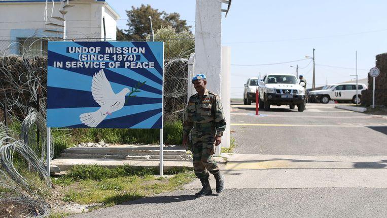 Een post van de VN op de Golanhoogte Beeld getty