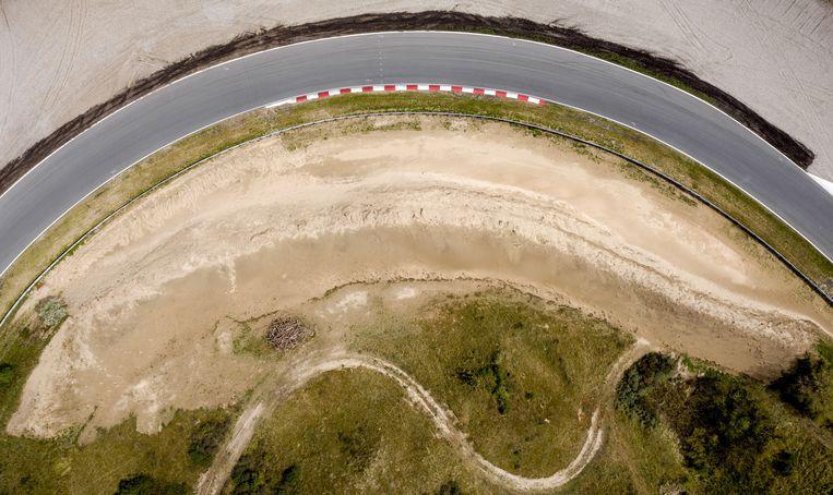 Een dronefoto van het circuit van Zandvoort.  Beeld ANP Sport