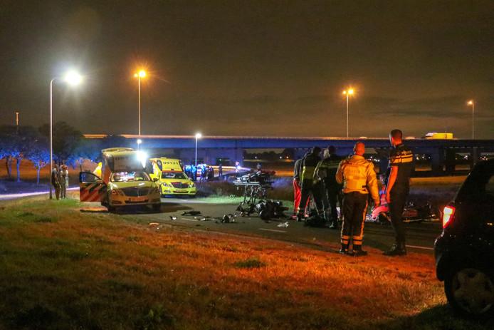Hulpdiensten actief na ongeval