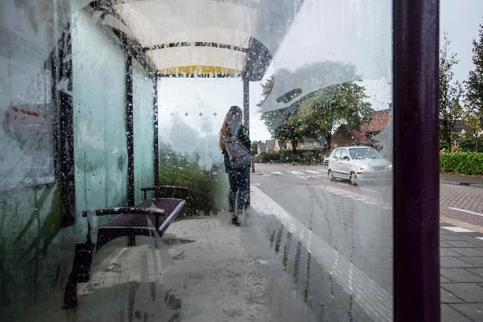 Wachten op buslijn 115 van Breda naar Zundert. Een van de lijnen waar busdiensten de afgelopen tijd geregeld uitvielen.  Tot frustratie van de reiziger.