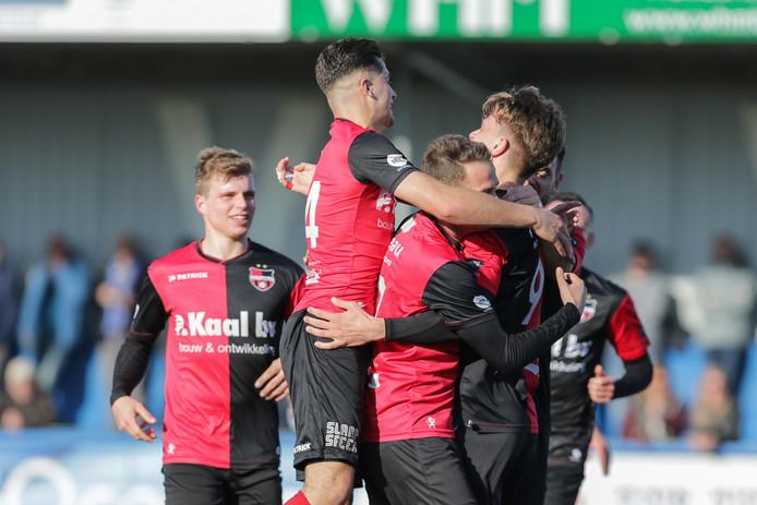 Beeld van eerder dit seizoen: blijdschap bij De Treffers.