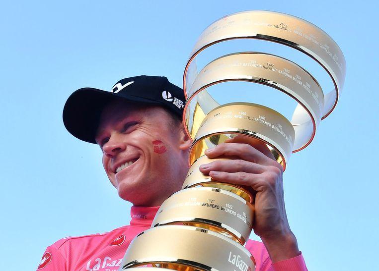 Froome won de Giro agelopen seizoen.