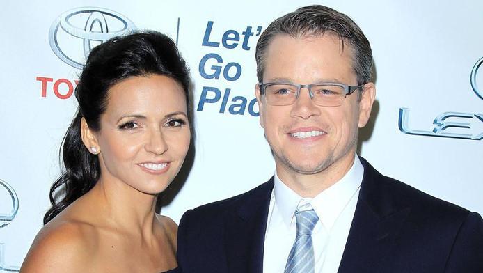 Matt Damon met vrouw Luciana Barroso.