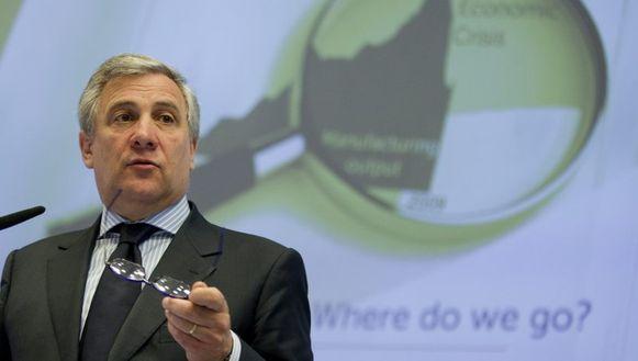 Eurocommissaris voor Industrie Antonio Tajani
