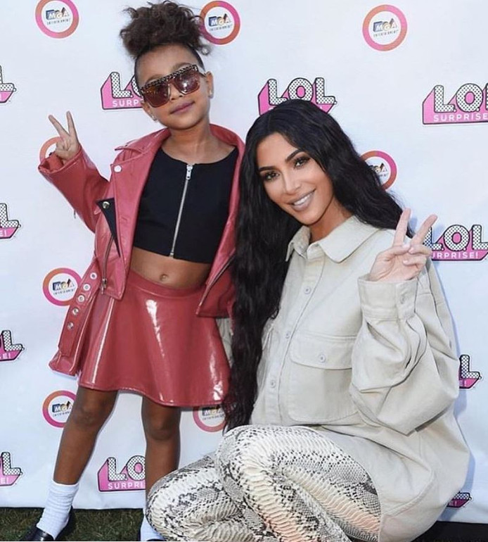 Kim Kardashian en haar dochter North