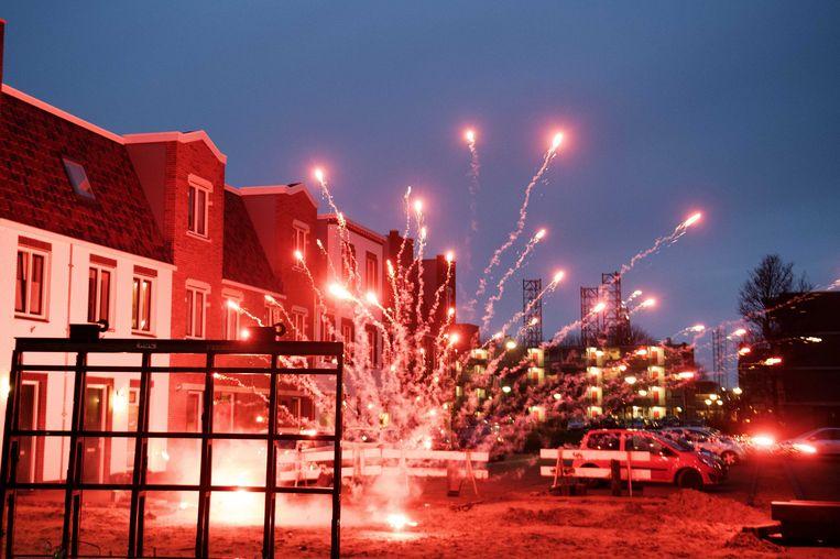 Vuurwerk in IJmuiden Beeld anp