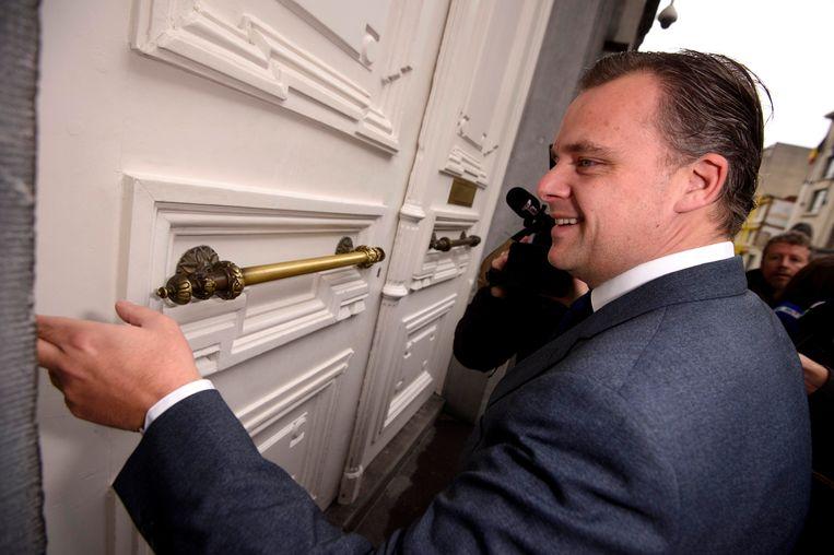 Philippe De Backer voor de ministerraad van de laatste kans zaterdagmiddag.