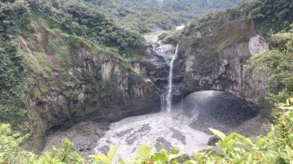 Grootste waterval Ecuador compleet drooggevallen door zinkgat