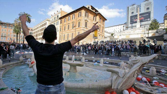 De rellen in Rome hebben alleen al de winkeliers een schade van zeker drie miljoen euro bezorgd.