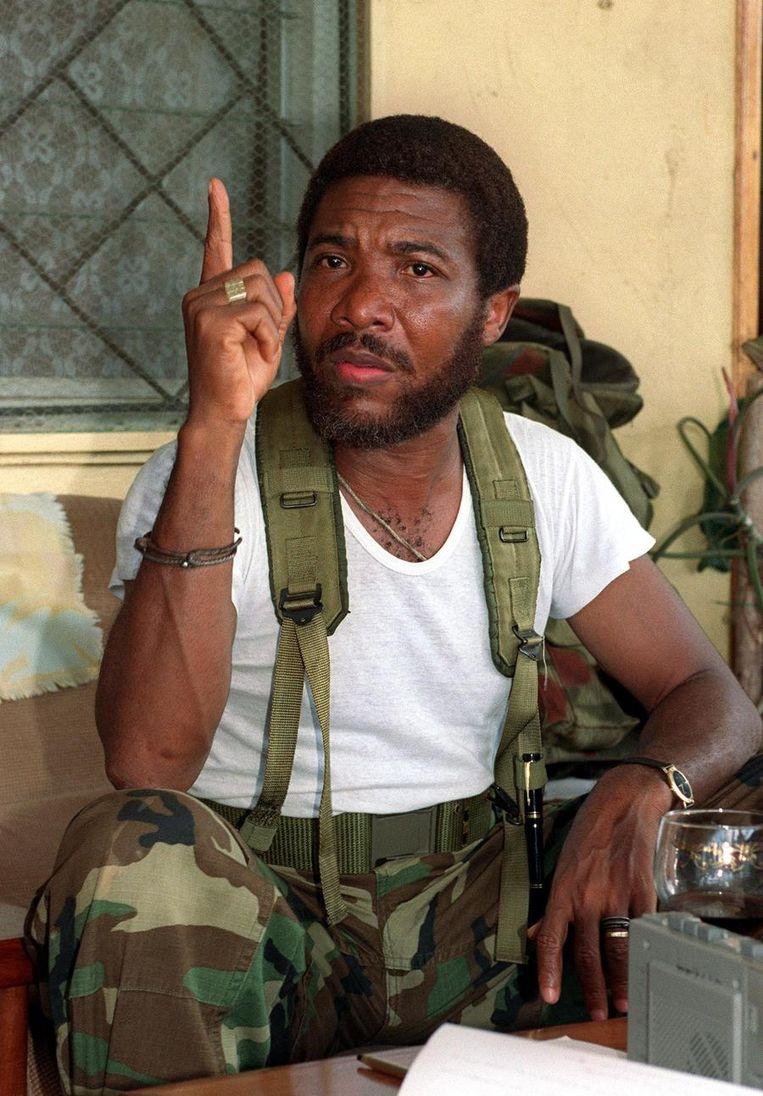 Charles Taylor, de rebellenleider Beeld ANP
