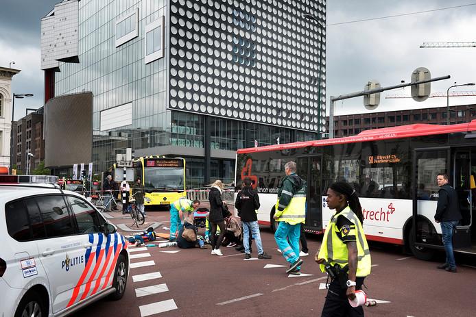De voetganger is ernstig gewond geraakt.