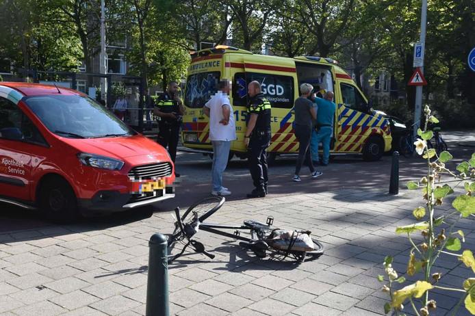 De fietser raakte bij het ongeval zwaargewond