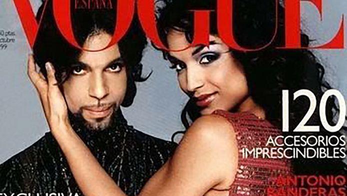 Mayte Garcia en Prince op de cover van Vogue