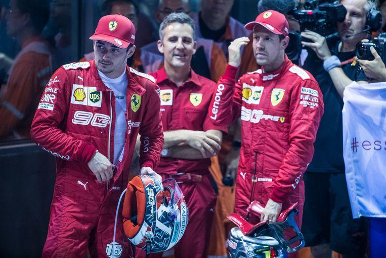 Leclerc en Vettel.