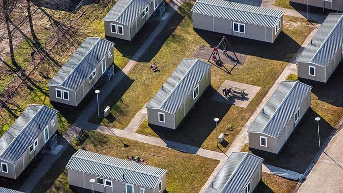 Luchtfoto van het aanmeldcentrum voor asielzoekers in Ter Apel