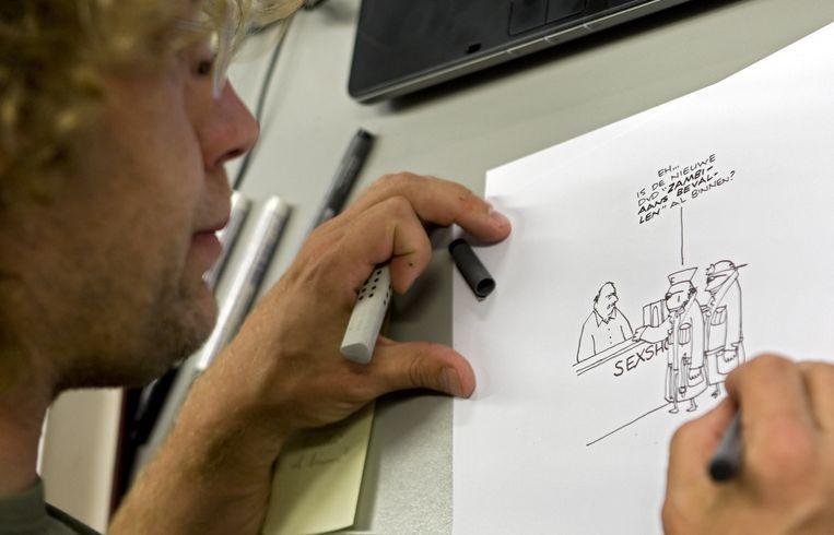 Tekenaar Jean-Marc van Tol blikt terug op 2015 Beeld ANP