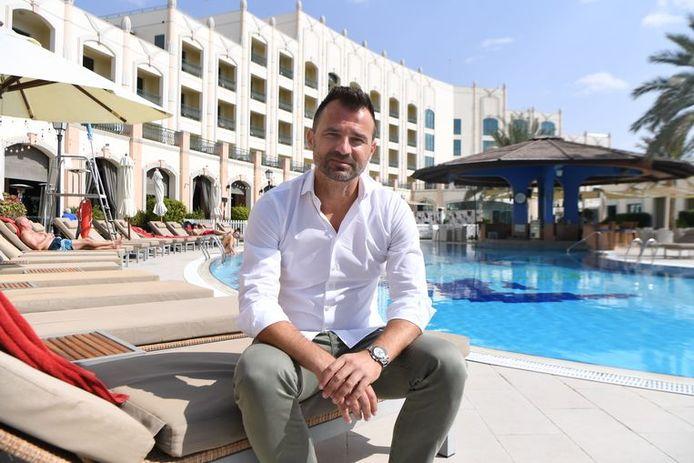 Ivan Leko à la piscine de son hôtel à Al Ain, où il résidait encore jusqu'il y a peu.