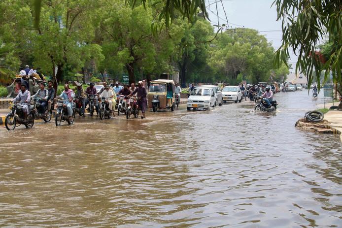 La ville de Karachi inondée.