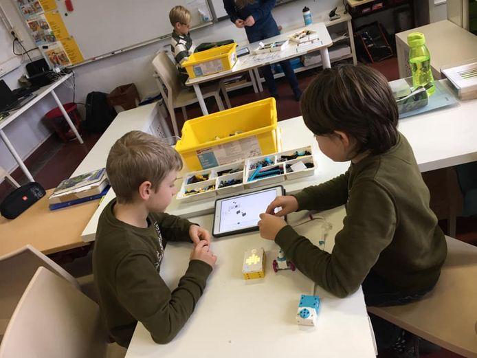 De kinderen van Boom Park gaan al van jongs af aan met ICT aan de slag.