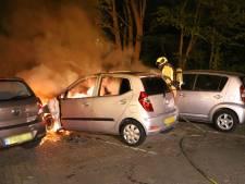 Geparkeerde auto gaat in vlammen bij Zagwijnpad in Delft