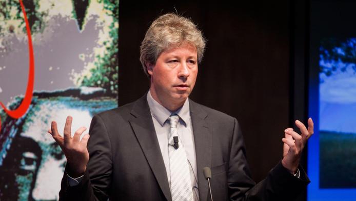 Erik Verlinde tijdens de uitreiking van de Spinozapremies in 2011.