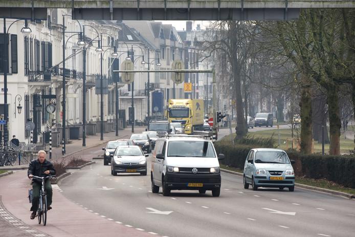 Het meest vervuilde stukje Arnhem: de Eusebiusbuitensingel.