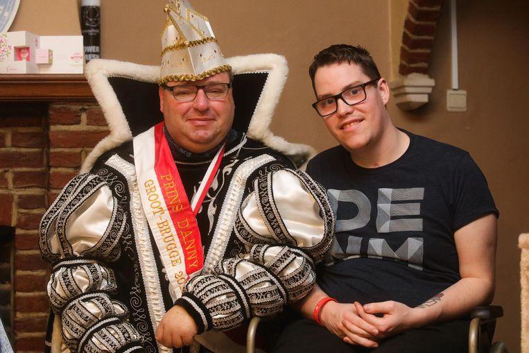Prins carnaval Danny Gezelle en zijn kameraad Bryan De Coninck.