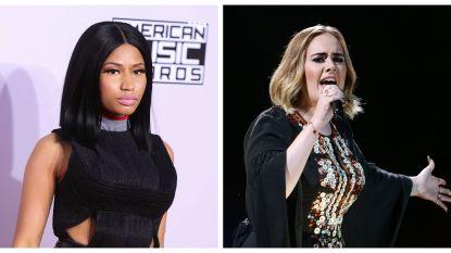 Nicki Minaj verklapt samenwerking met Adele