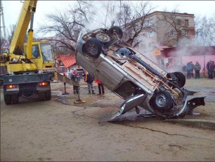 De slachtoffers zaten bekneld in hun voertuig.