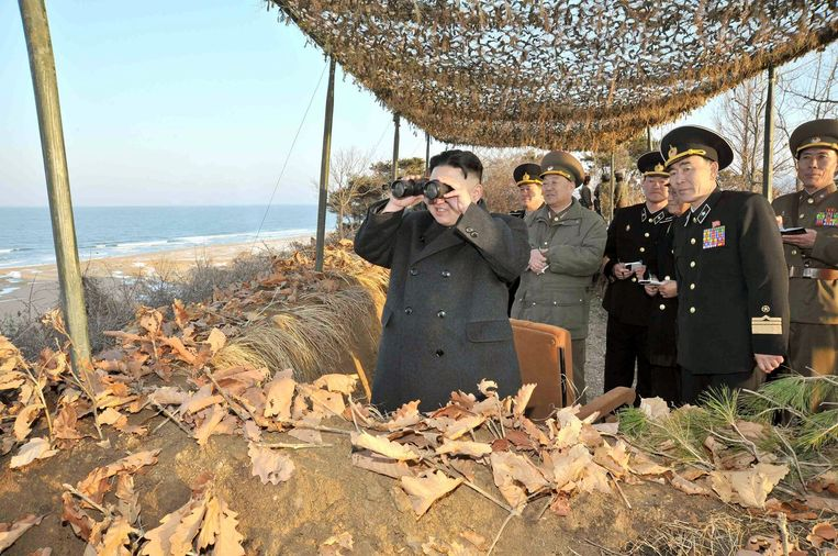 De Noord-Koreaanse leider Kim Jung-Un. Beeld AFP