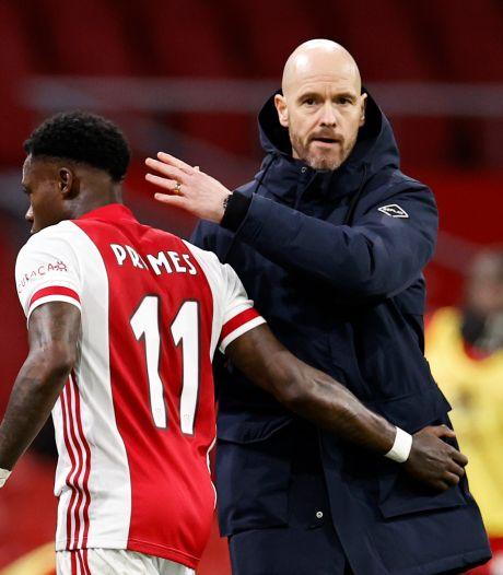 Ten Hag: binnen de Ajax-muren is hij vlijmscherp, erbuiten beschermt hij zijn spelers