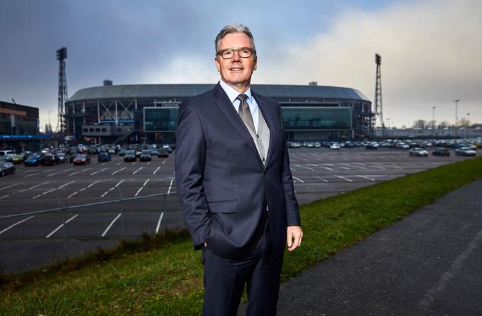 Voorzitter Conré Oostrom van de VASF: 'Vriend Visser zit er voor de stad, en vriend De Jong voor Feyenoord'.