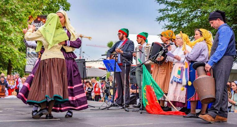 Ook aan de stadionvijvers: dansen in culturen.