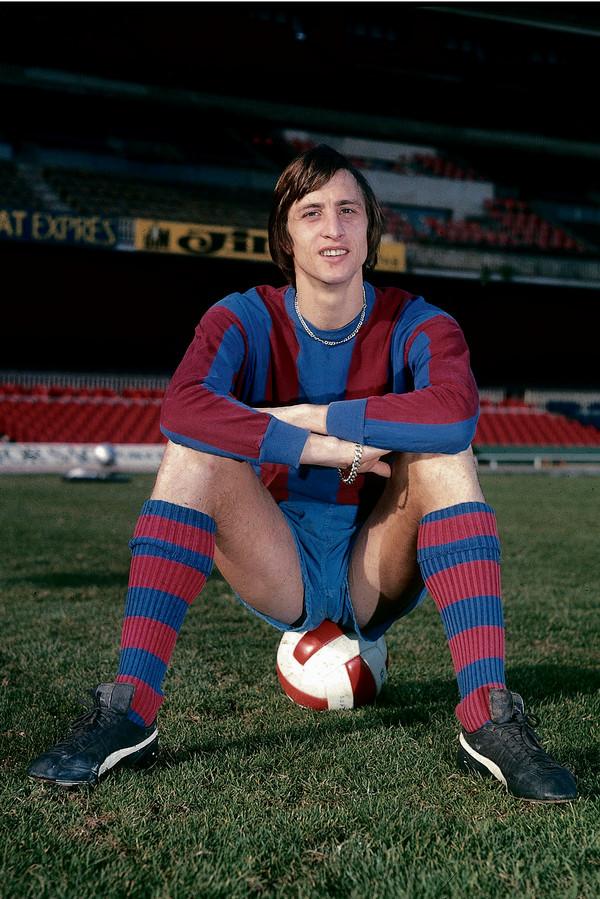 Johan Cruijff in het shirt van FC Barcelona in 1973.