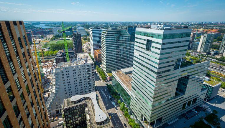 Gebouwen en kantoren aan de Zuidas. Beeld ANP