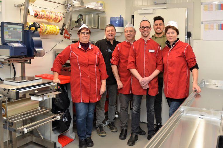 De ploeg van Buurtslagers in de Carrefour Express in Lovendegem.