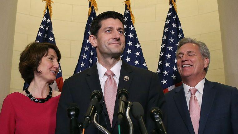 De verkiezing van Paul Ryan tot voorzitter van het lagerhuis in de VS is nog slechts een formaliteit. Beeld afp
