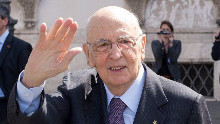 Scheidend Italiaans president Napolitano. Beeld REUTERS